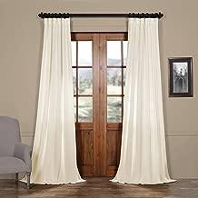 FELCH-SLWE1755-84 Faux Linen Semi Sheer Curtain, 50 x 84, Pale Bloom