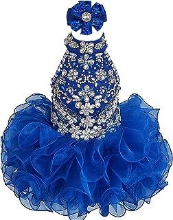 Baby Girls Birthday Party Dress Toddler Kids Cupcake Pageant Dress Mini172