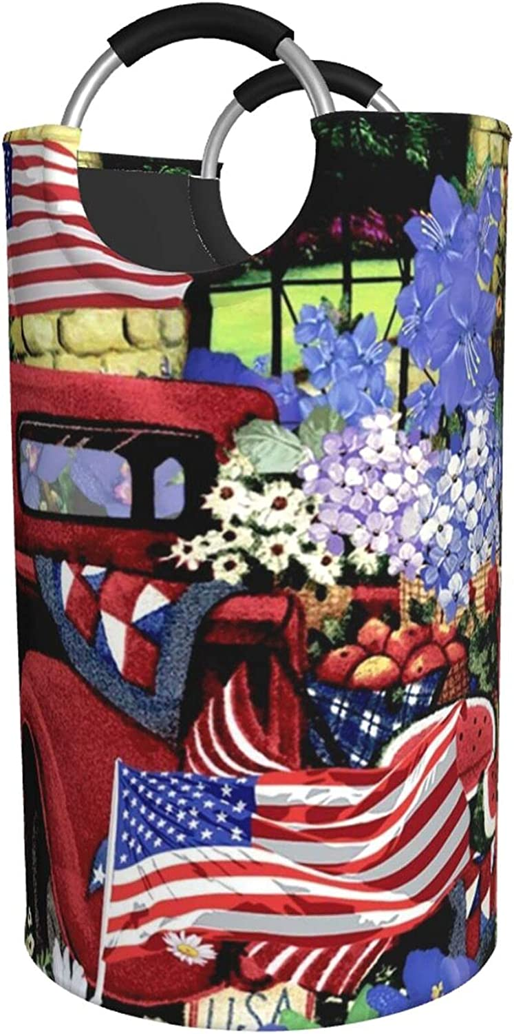 4th Of July Patriotic Old Red Discount is also underway Waterp Ranking TOP7 Print Truck Hamper Laundry