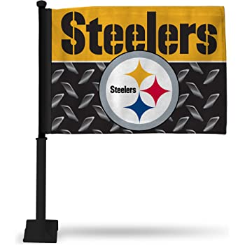 Promark NFL Pittsburgh Steelers Flag Set 2-Piece Ambassador Style Team Color One Size