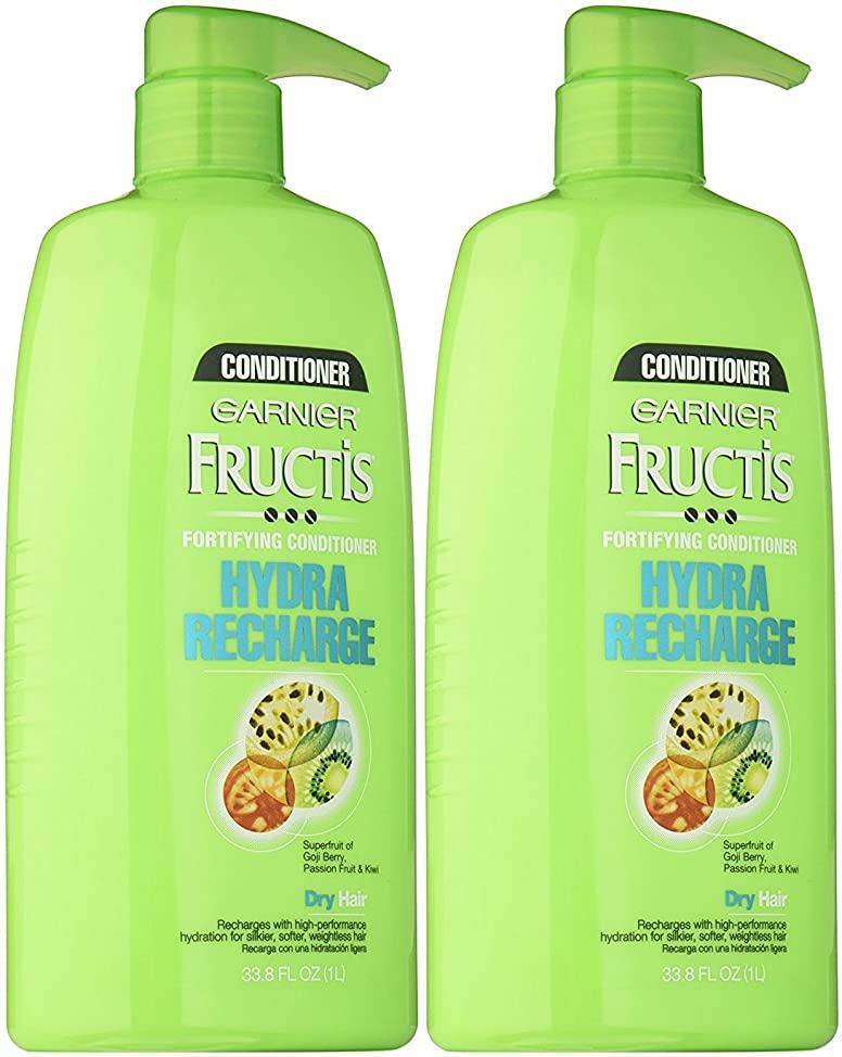 Garnier Fructis Hydra Recharge Conditioner, 33.8 Ounce Pump Bottle (Pack of 2)