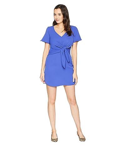 American Rose Ellis Front Knot V-Neck Dress (Royal Blue) Women