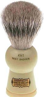 Simpsons Keyhole KH1 Best Badger Hair Shaving Brush Small - Imitation Ivory