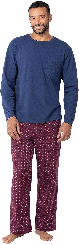 PajamaGram Cotton Mens Pajama Set Trust Portland Mall Pajamas Long Sleeve -