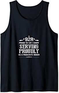 I Am Proud 92R Military & Army Parachute Rigger Tank Top