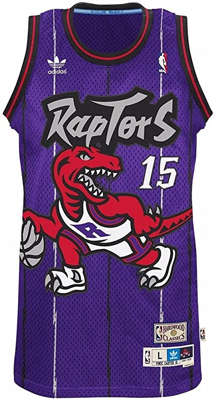 Amazon.com : adidas Vince Carter Toronto Raptors Purple Throwback ...