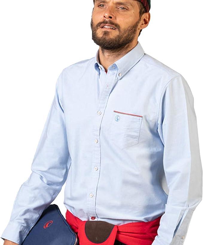 El Ganso Oxford Bandera Camisa Casual para Hombre