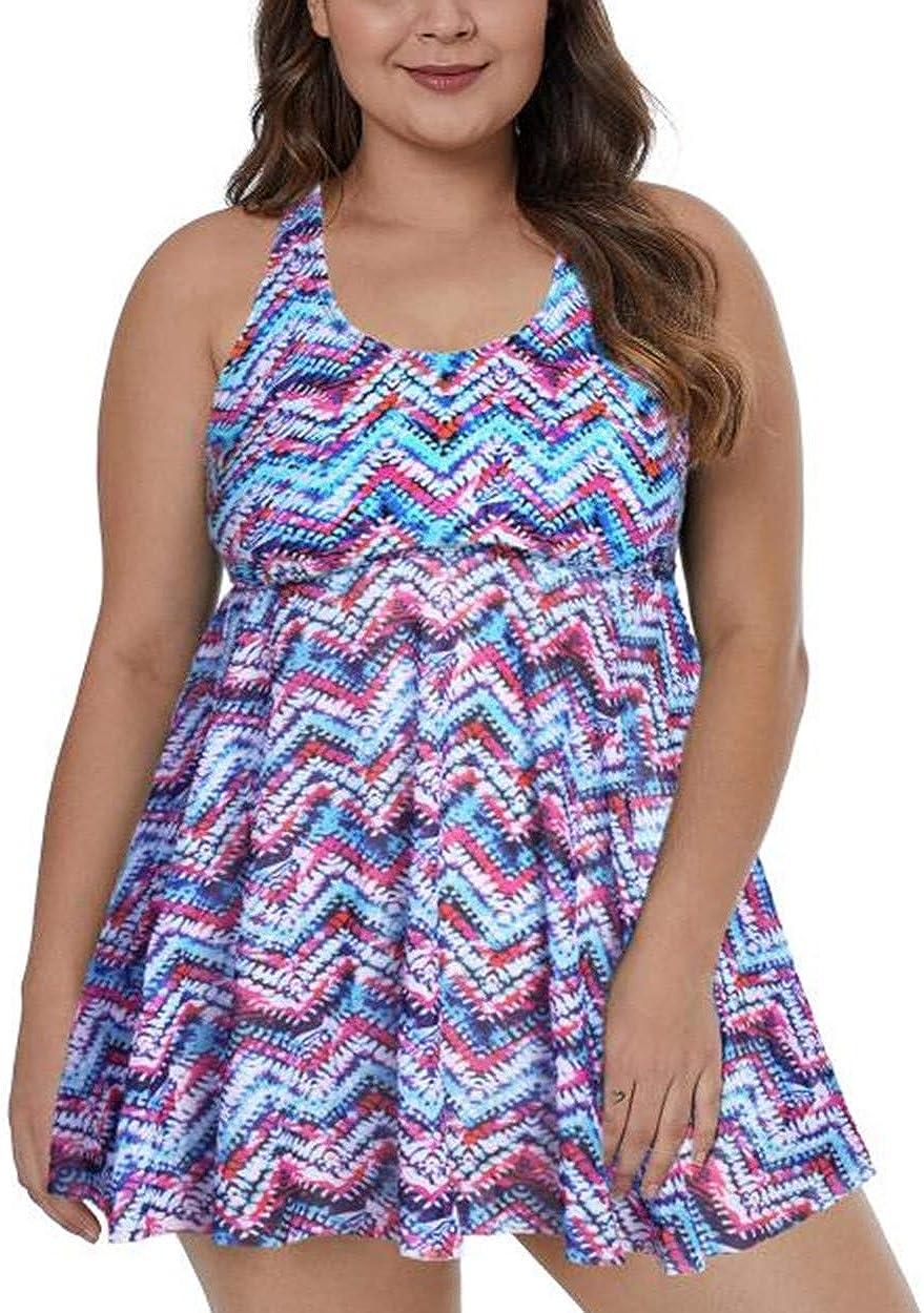 Gloria&Sarah Plus Size Swimdress Tops Plus Size Swimsuit Swimwear Dress L-XXXL