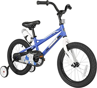 Sporty Kids Bike Stylish Boys and Girls Bikes Steel Frame 12-14-16-18-20 Inch with Training Wheels and Kickstand Water Bot...