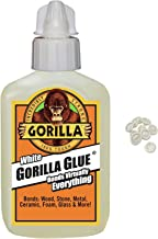 Gorilla White Glue, Waterproof, 2 Ounce Bottle, White with 10 Disposable Latex Finger Cots Rubber Fingertips