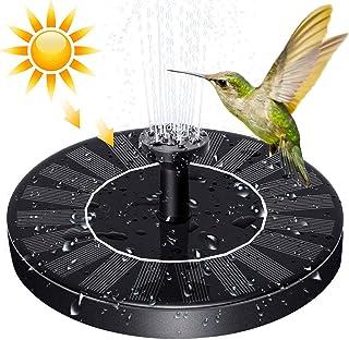 SYMMONA Solar Powered Fountain Pump for Bird-Bath, 1.2w Mini Flotating Solar Fountain with 4 Nozzles for Outdoor Garden,Po...