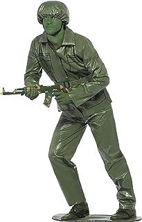 comprar comparacion Smiffy'S 23681L Disfraz De Soldadito, Top, Pantalones Cinturón, Gorra Y Base Para Pies, Verde, L - Tamaño 42