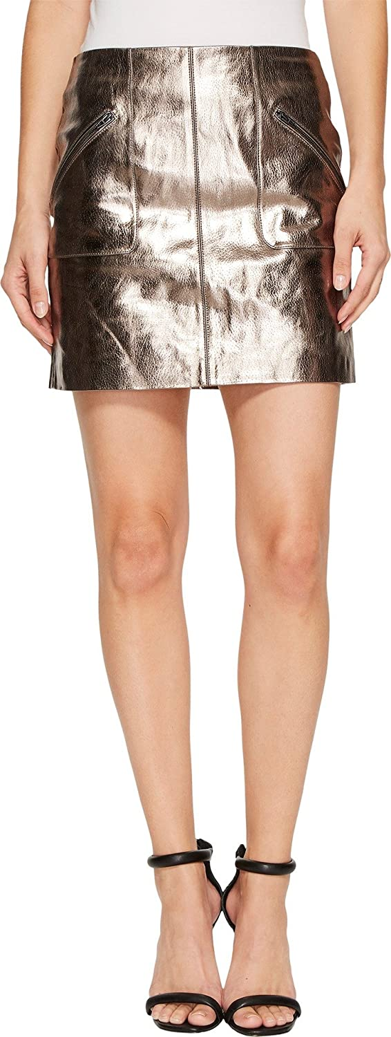 [BLANKNYC] Blank NYC Womens Metallic Skirt in Mercury