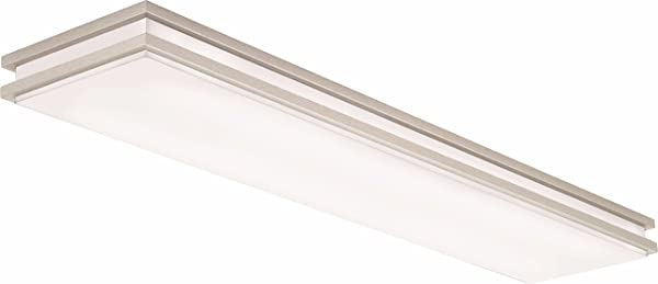 Lithonia Lighting Brushed Nickel 4 Ft LED Flush Mount 4000K 35 5W 2 560 Lumens