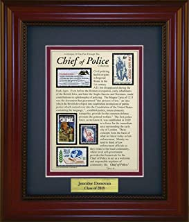 Chief of Police - Unique Framed Collectible (A Great Gift Idea) with Personalized Engraved Plate