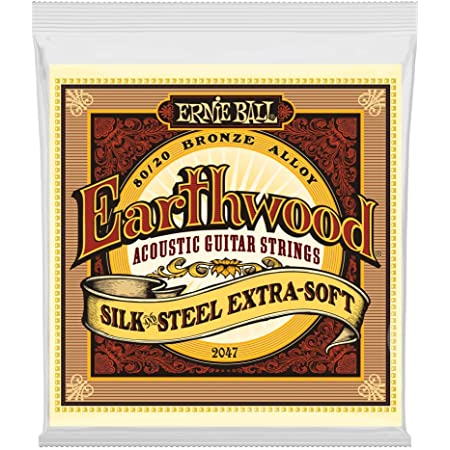 Amazon Com Ernie Ball Earthwood Silk And Steel Extra Soft Acoustic Set 010 050 Musical Instruments