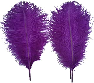 Sowder 5pcs Ostrich Feathers 16-18inch(40-45cm) Home Wedding Decoration(purple)