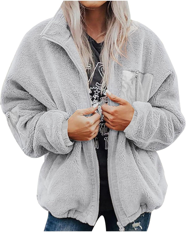 Women Fuzzy Fleece Coat Solid Zipper W Warm Comfy Pocket 2021new shipping free shipping Outwear Elegant