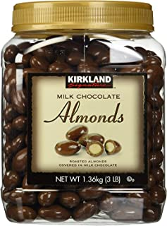Kirkland Signature Trhfh Milk Chocolate Roasted Almonds, 2 Pack 48 Oz