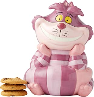 Enesco 6003744 Disney Ceramics Alice in Wonderland Cheshire Cat Cookie Jar Canister, 10.25 Inch, Multicolor