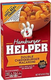 Betty Crocker Hamburger Helper, Double Cheeseburger Macaroni Hamburger Helper, 6 Oz Box