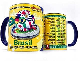 Gio Gifts Brasil Mug Futebol Soccer Brazil Coffee/Tea Mugs & Cups Russia 2018 Collectible Souvenir