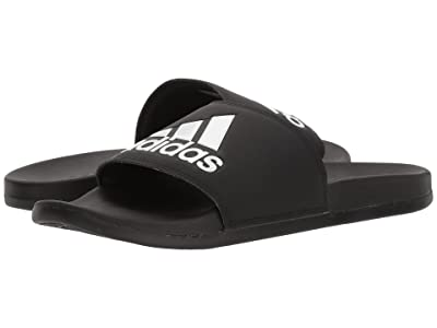 adidas Adilette CF+ Logo (Black/Black/White) Men
