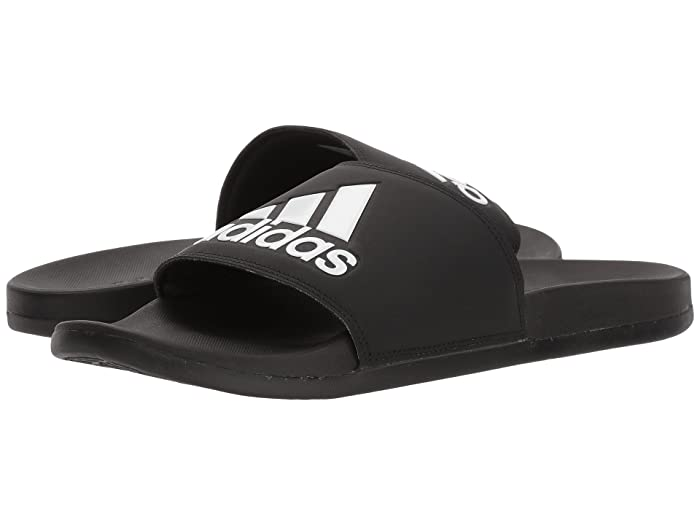 adidas  Adilette Comfort (Black/Black/White) Mens Slide Shoes