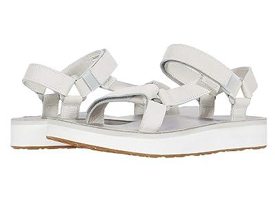 Teva Midform Universal Leather (White/Grey) Women