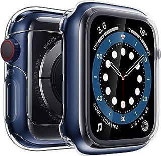 Penom Case for New Apple Watch SE Series 6 Screen Protector 44mm (2020), Apple Watch Series 5 Series 4 Case (Transparent, ...