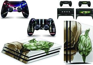 giZmoZ n gadgetZ Skin Adhesivo de Vinilo de Yoda de Starwars de GNG para la Consola PS4 Pro + Set de 2 Skins para los Controladores