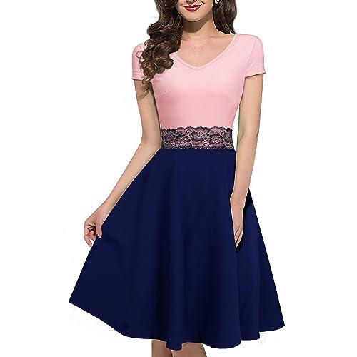 Blue and Pink Dress: Amazon.com