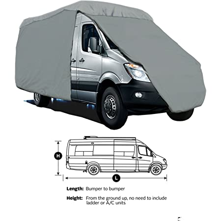 2020 Ducato 2.3 160 HP 1 Piece Protective Cover for Motorhome Travel Van T 590 G Fia Grey