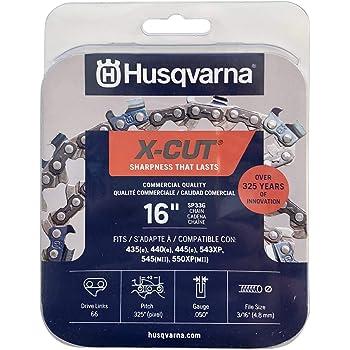 "Husqvarna 581643602 X-Cut SP33G 16"" Chainsaw Chain, 050 GA 66 Drive Links, Grey"