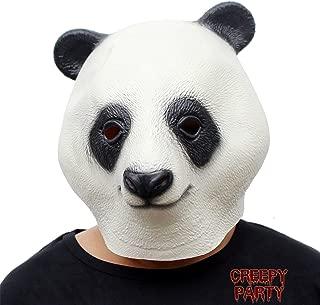 CreepyParty Novelty Halloween Costume Party Latex Animal Head Mask Giant Panda (Panda)…