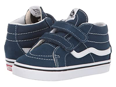 Vans Kids Sk8-Mid Reissue V (Infant/Toddler) (Gibraltar Sea/True White) Boy
