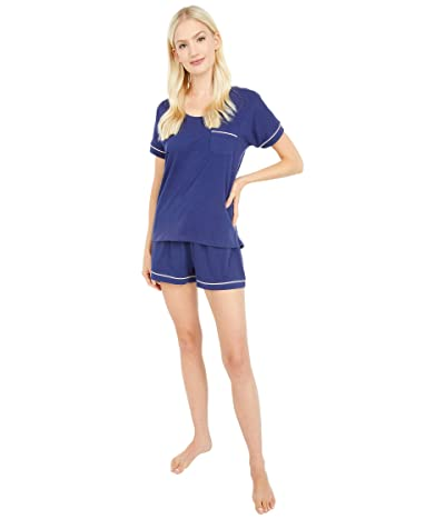 PACT Organic Cotton Sleep Set (Midnight Navy) Women