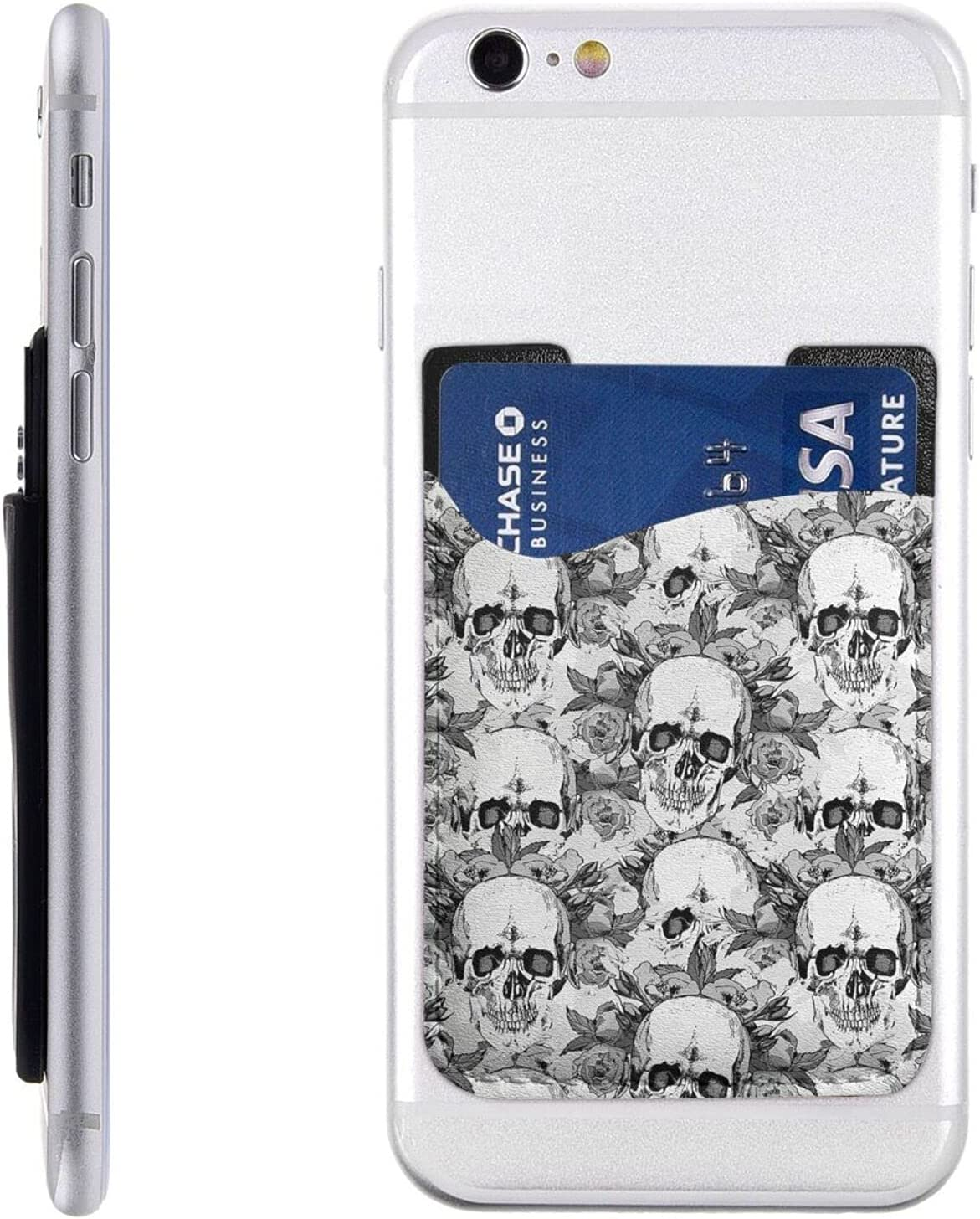 Skull Skeleton Ranking TOP8 Cheap mail order specialty store Phone Card Holder Wallet Stick On Cell