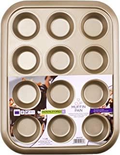 Royalford RF8793 12 Cup Muffin Pan, Oven-Safe Muffin and Cupcake Tray, Essential Non-Stick Yorkshire Pudding Tray for Baking
