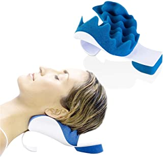 Chiropractic Pillow, LiuYX Cervical Pillow Neck Traction Device, Neck Massage Cervical Pillow, Neck Support Pillows for Pa...