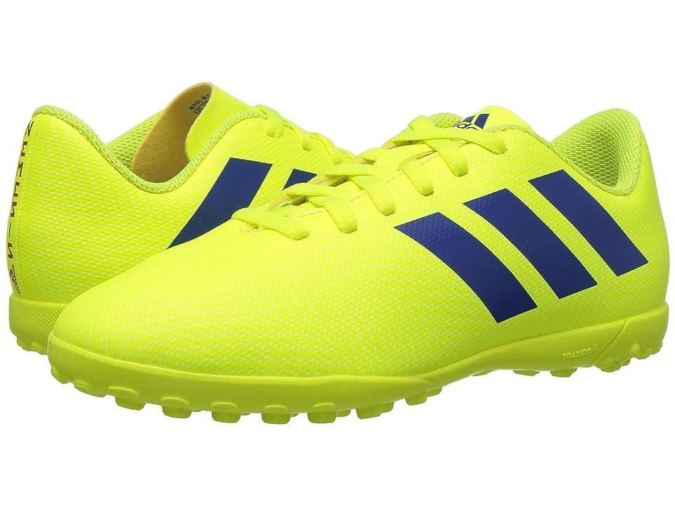 adidas Kids Nemeziz 18.4 TF Soccer (Little Kid/Big Kid) (Solar Yellow/Blue/Active Red) Kids Shoes