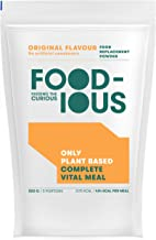 FOODIOUS Original Protein Powder-100 Vegan-Ideal as Meal Replacement or Diet Shake-Only 2g of Sugars per Meal-Breakfast Powder 1kg 10 Complete Meals-Premium Ingredients-Astronaut Food Estimated Price : £ 28,99