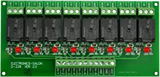 Electronics-Salon 8 Channel 10Amp SPDT Power Relay Module Board (Operating Voltage: DC 12V)
