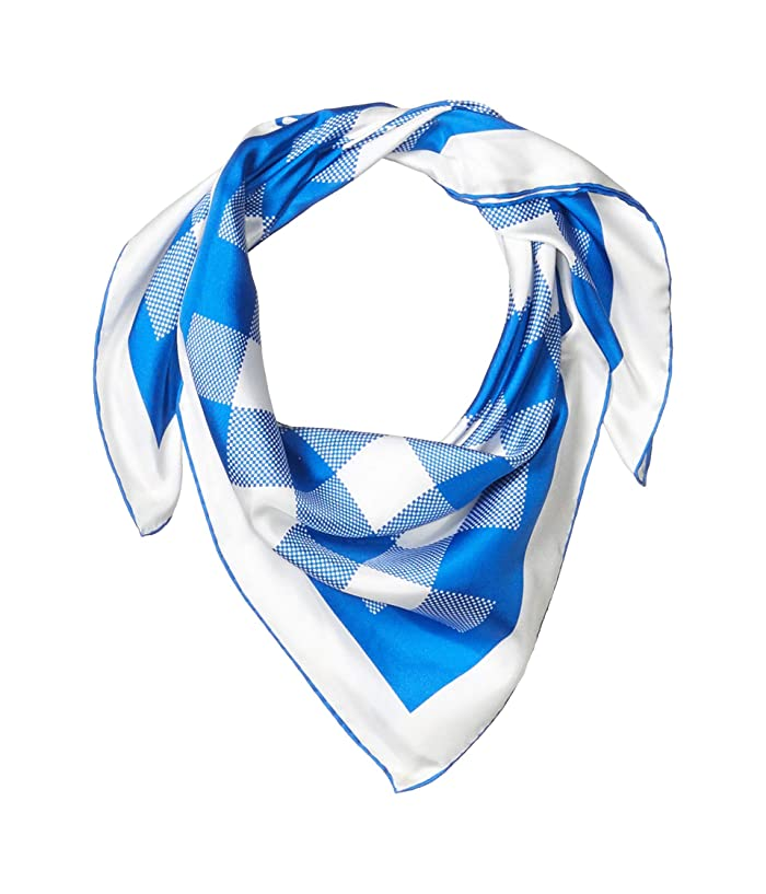 Polo Ralph Lauren  Gingham Silk Square (Heritage Blue) Scarves
