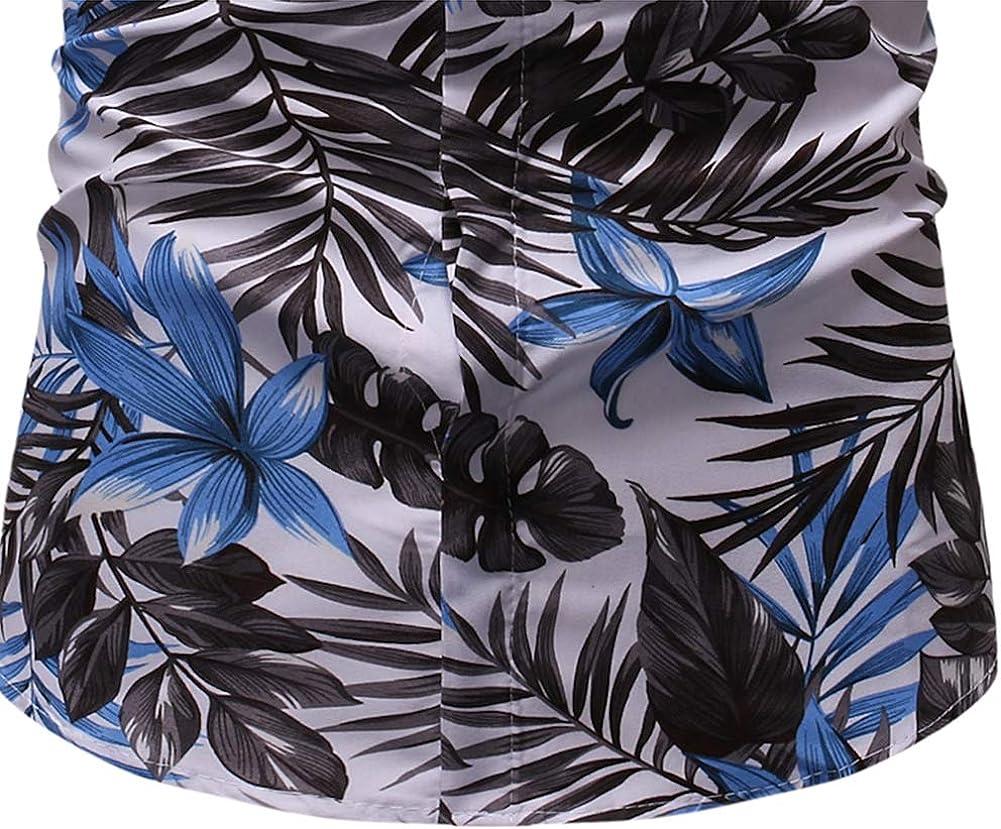 Men's Shirts Fashion Casual Classic Slim Beach Print Short Sleeve Joker Shirt