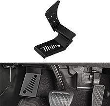 CarMix Dead Pedal Left Side Foot Rest Pedal for 2018 2019 Jeep Wrangler JL & JLU Steel Driver Side Automatic Transmission Models with AdhesiveTape(Black)