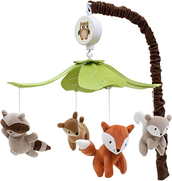 Lambs Ivy Woodland Tales Multicolor Forest Animals Musical Baby Crib Mobile