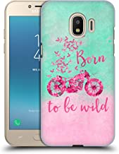 Official LebensArt Born to Be Wild Typography Hard Back Case Compatible for Samsung Galaxy J2 Pro (2018)