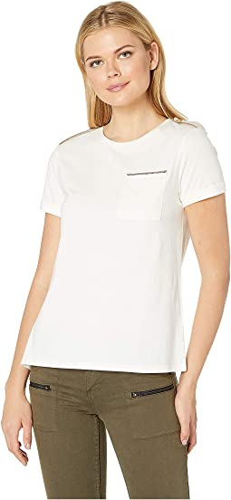 Cotton-Blend Pocket Tee