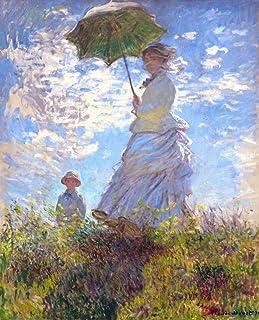 絵画風 壁紙ポスター(はがせるシール式) クロード モネ 散歩 日傘をさす女性 1875年 ワシントンナショナルギャラリー キャラクロ K-MON-004S2 (478mm×594mm) 建築用壁紙+耐候性塗料